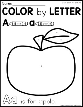 Alphabet Color By Letter Printables Now I Know My ABCs Series