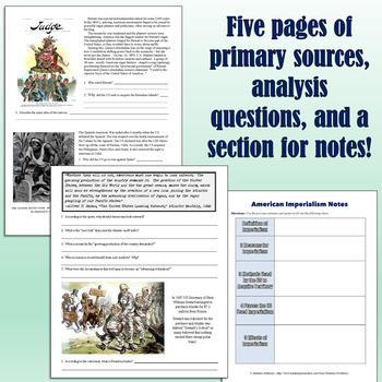 American Imperialism Packet With Primary Sources