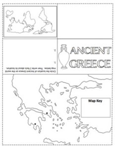 Ancient Greece Map Foldable for Interactive Notebooks by Created by     Ancient Greece Map Foldable for Interactive Notebooks