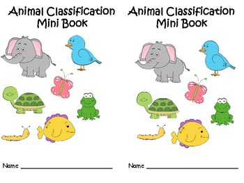 Animal Classification Mini Books By Mizell Multiage TpT