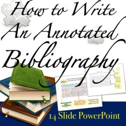 write my annotated bibliography