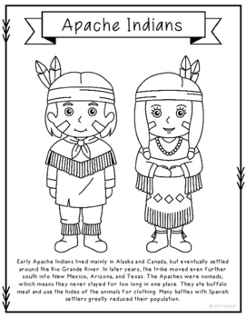 Apache Indians Coloring Page Craft And Poster Indian Tribes Native American