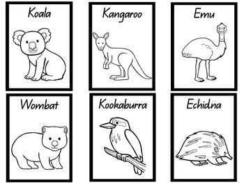 Australian Animal Colouring Pages -QLD Print by Little ... | free printable colouring pages australian animals