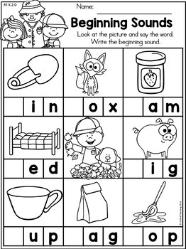 Autumn Kindergarten No Prep Language Arts Worksheets By