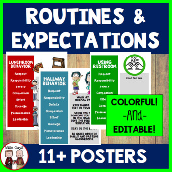 Back to School Rules and Procedures Now Editable!