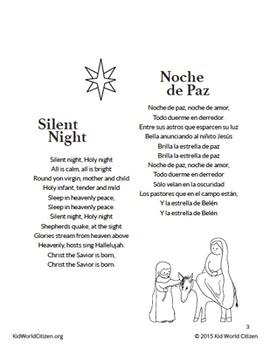 bilingual christmas carols villancicos navideos spanish english