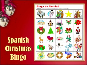 Bingo De Navidad Spanish Christmas Vocabulary Bingo By