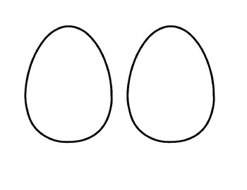 Blank Easter Egg Template Half Sheet To Save Paper By Teach It Toby