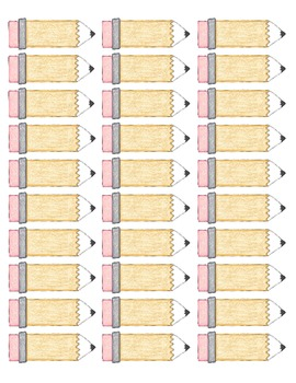 Blank Pencil Labels Template By Carrie39s Classroom Cottage TpT