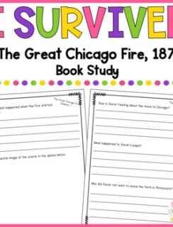 Book Study for I Survived - The Great Chicago Fire, 1871