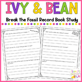 Ivy and Bean Break the Fossil Record - Book Study