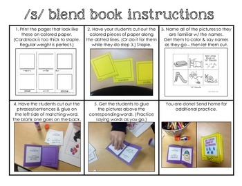 Cut & paste mini books: s, r, & l blends - Speech therapy ...