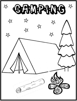 camping coloring page # 72