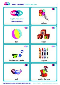 Children And Toys Flashcards In English By The Swedish