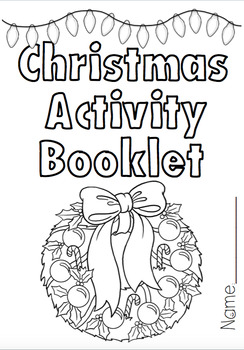 Christmas Activity Booklet by PocketRocket | Teachers Pay ... | christmas coloring pages  booklet