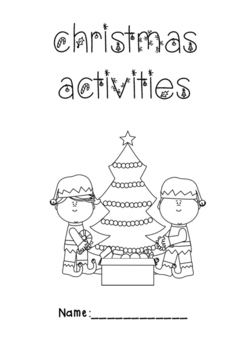 Christmas Activity Booklet by cintsible | Teachers Pay ... | christmas coloring pages  booklet