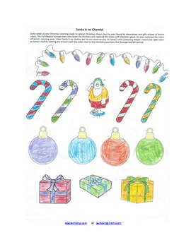 Christmas Chemistry Review Worksheet W Coloring Fun For