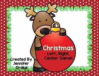 Christmas Game! Christmas Left, Right, Center! Great K-2 ...