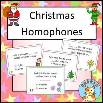 Christmas Homophones Fun Taskcard Activity Scoot By