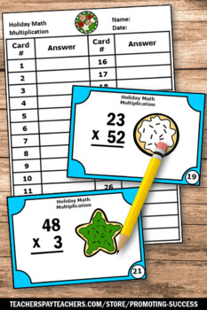Christmas Math Activities 4th Grade Multiplication