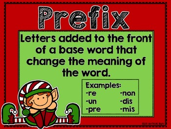 Christmas Prefixes And Suffixes Activities Amp Printables By More Than Math By Mo