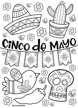 Cinco De Mayo Coloring Page By Mrs Arnolds Art Room Tpt