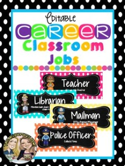 Classroom Jobs Career-Themed (Editable)