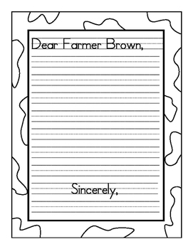 Click Clack Moo Write A Friendly Letter To Farmer Brown