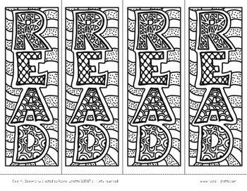 Reading Bookmarks To Color Free By Rachel Lynette TpT