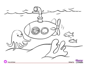 submarine coloring pages # 6