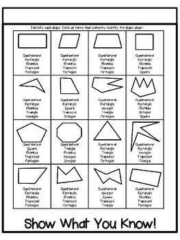 Common Core 3rd Grade Geometry Interactive Flipbook