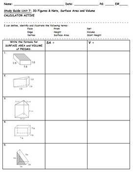 Common Core 6th Grade Math Unit Test & Study Guide Bundle