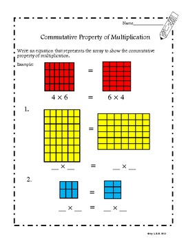 Commutative Property Of Multiplication Worksheets Common