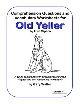Comprehension Questions And Vocabulary Worksheets For Old