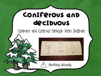 A few trees are a mix between deciduous and coniferous trees. Coniferous And Deciduous Tree Flip Book By Teaching Siriusly Tpt