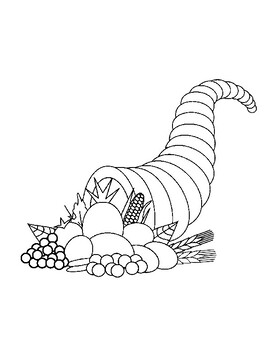 Cornucopia Coloring Page Worksheets Teaching Resources Tpt