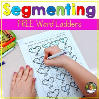 CvC Word Work Worksheet Free Sample Heart Theme