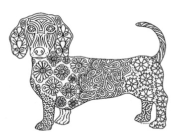 dachshund coloring pages # 4