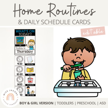 Home Schedule and Daily Routines Pack | Editable ...