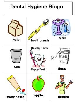 Dental Health Bingo Boards By KISS Teacher Products TpT