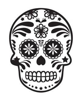 Dia De Los Muertos Coloring Page Worksheets Teaching Resources Tpt