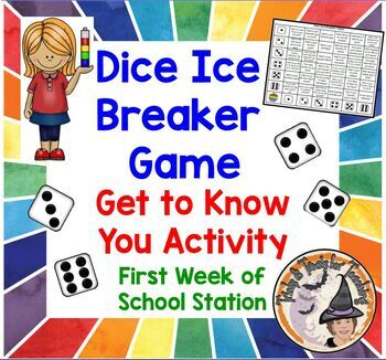 Dice Ice Breaker Game Get To Know You Activity Back To