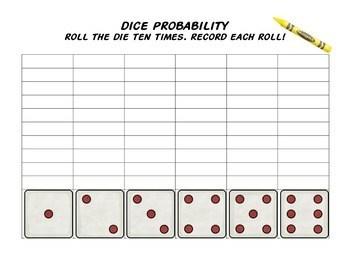 Dice Probability Activity Sheet By Emma Hannan