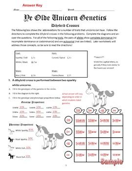 Printables Of Dihybrid Crosses Genetics Worksheet
