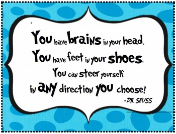 dr seuss quote poster for classroom wall from oh the places you ll go