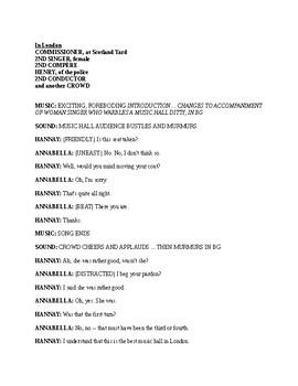 Drama The 39 Steps Radio Script By Mr Wonderful Tpt