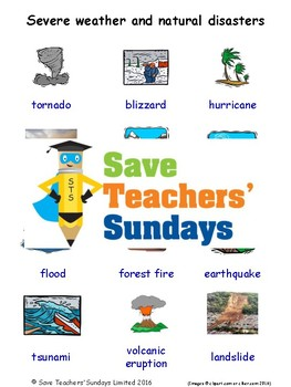 Esl Severe Weather Amp Natural Disasters Worksheets Games