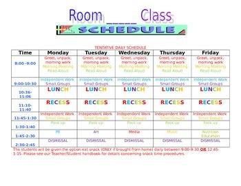 A weekly schedule template is great for routine items or special events, like conferences, training programs, or travel plans. Editable Class Schedule Template By Teachingmermaid321 Tpt