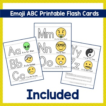 Emoji ABC Trace Color And Have Fun Teaching The