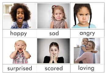 Emotions 3-Part cards (English) by South African ...